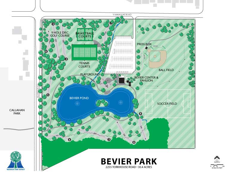 Bevier Park Map