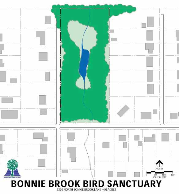 Bonnie Brook Bird Sanctuary Map