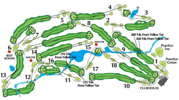 Bonnie Brook Golf Course Map