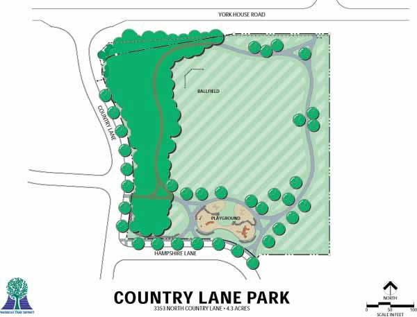 Country Lane Park Map