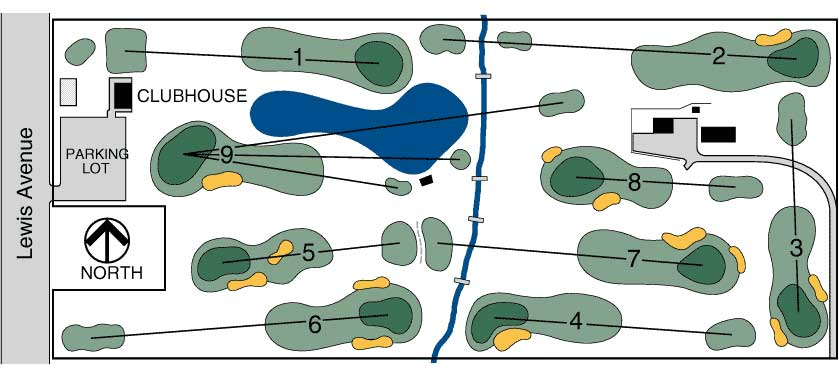 Greenshire Golf Course Map