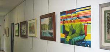Artist Exhibits on the Wall