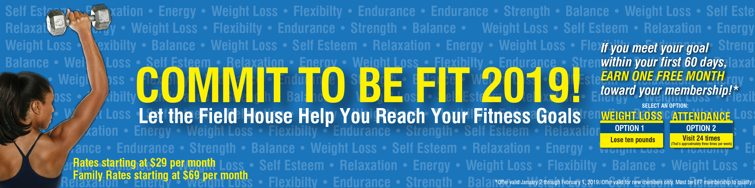 Commit to be Fit Web Banner