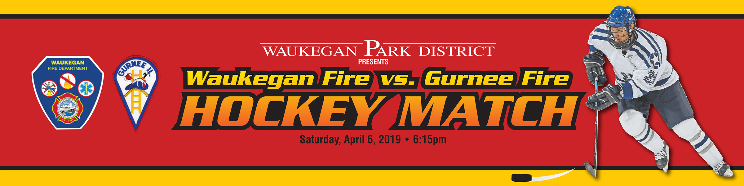 2019 Waukegan Fire vs. Gurnee Fire Hockey Match