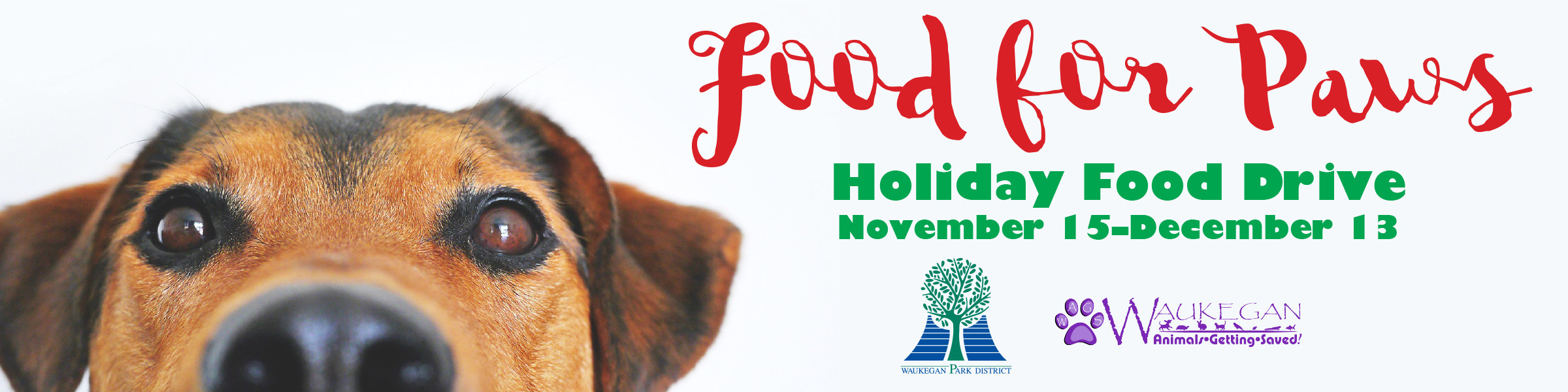 2019 Food for Paws Holiday Food Drive