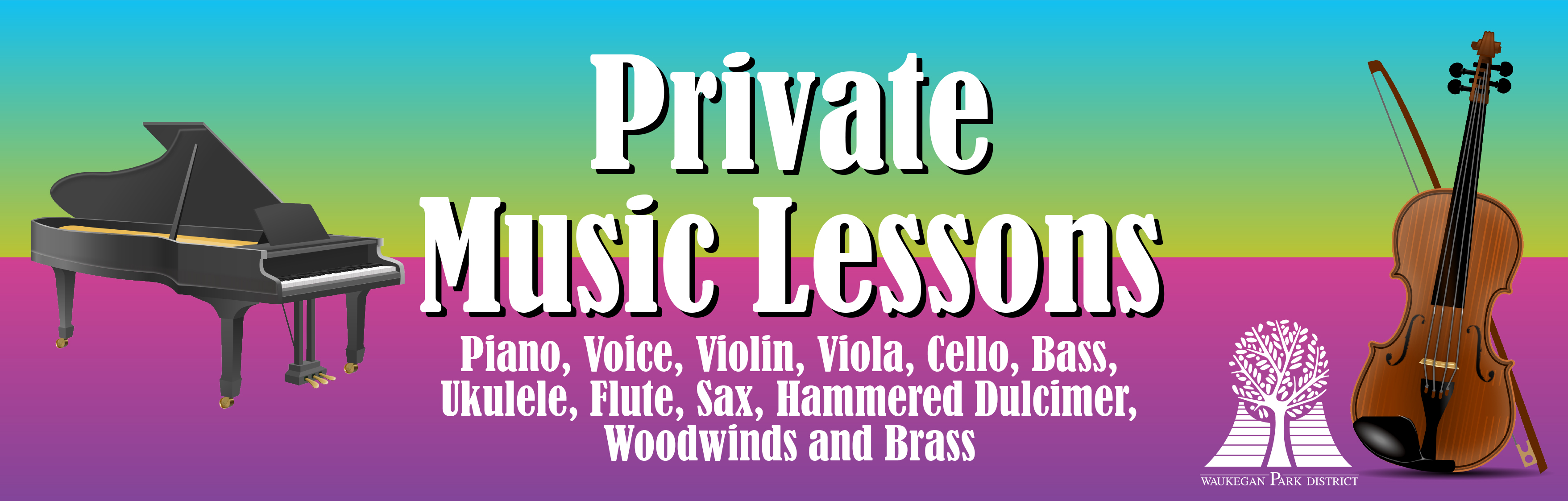 Private Music Lessons with Instruments