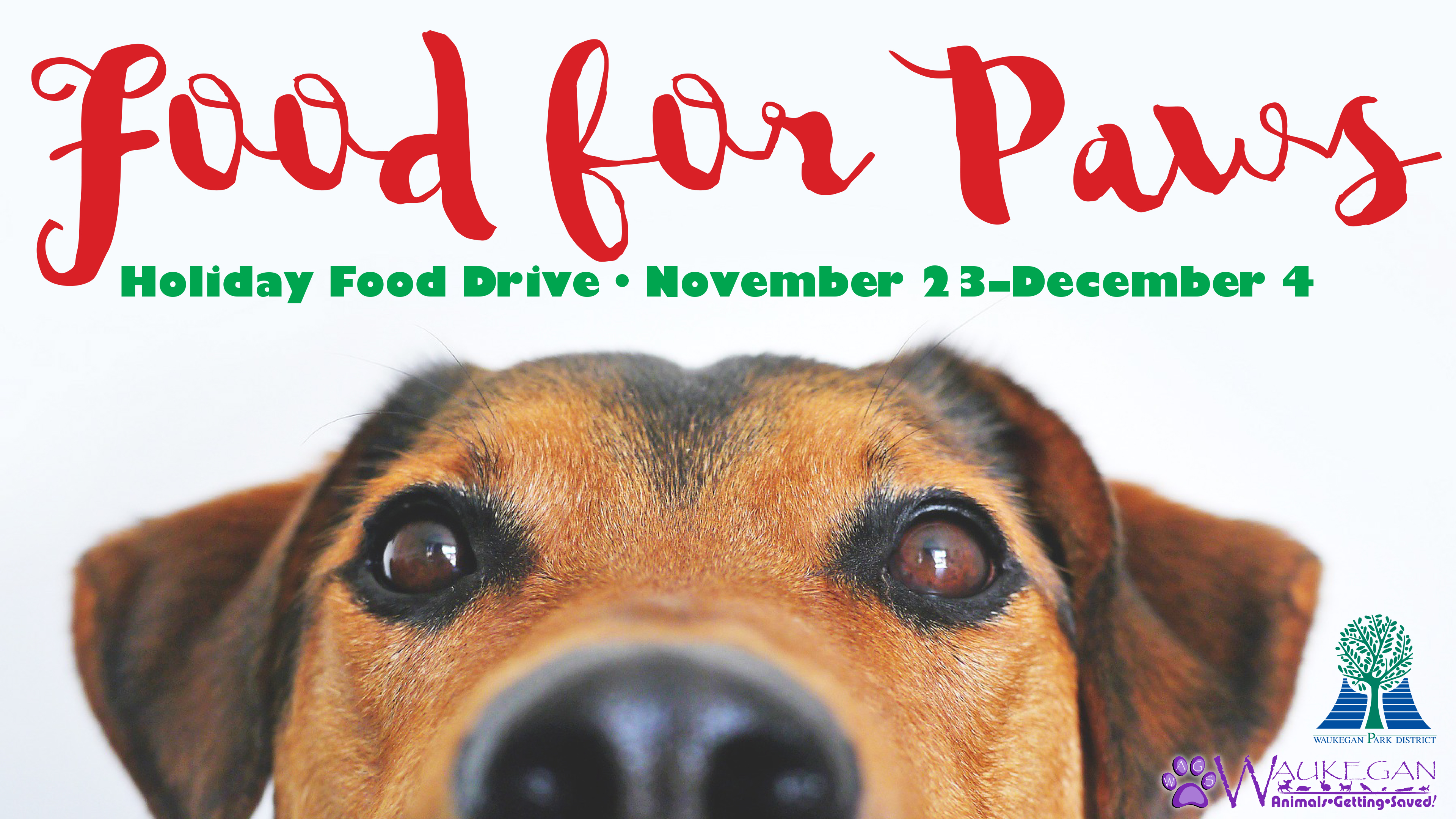 2020 Food for Paws Holiday Food Drive