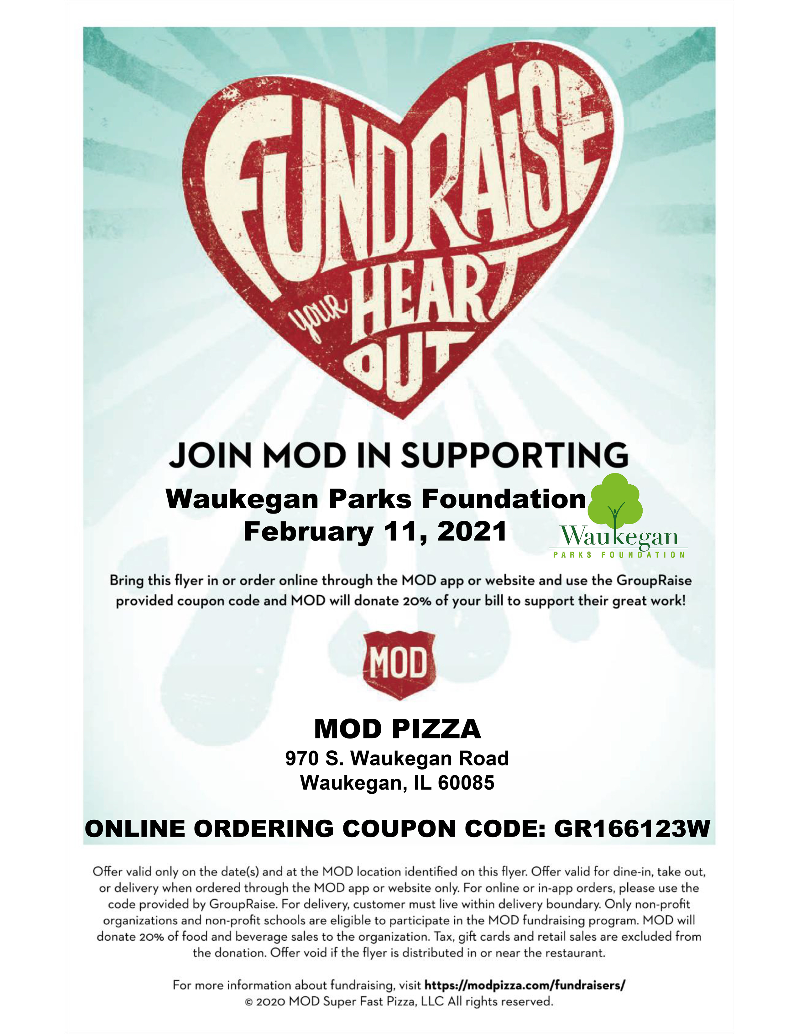 MOD Pizza Fundraiser (February 2021)